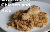 Cuit au four, poulet et riz