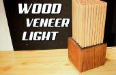 Placage bois bricolage lumière