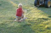 Faire des skis d'herbe de vieilles planches à roulettes