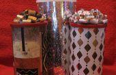 Cool recyclés boîte cadeau, emballage et fabuleux arc