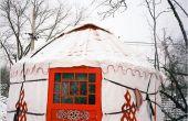 Une fille de Pékin construire une yourte à Pékin comme sa page d'accueil