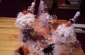 Coupes glacées bonbons d'Halloween et les décorations