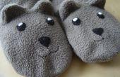 Coudre, chaleureux et confortables pantoufles Teddy Bear