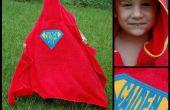 Super-héros capuche serviette