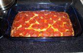 Faible teneur en glucides, riche en protéines de pizza avec sauce maison