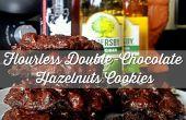 Alimentaires de cuit au four sans Gluten 25mins : gâteau Double chocolat-noisettes Cookies avec du sel marin !
