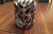 Diagonal tisser catalogue panier - en forme de cylindre