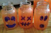 Bocal à conserves de citrouilles pour Halloween