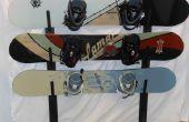 Rack pittoresque Snowboard Metal