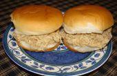 Sandwiches au poulet déchiqueté rapide et facile