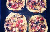 Cuit les courgettes à la feta, tomates, menthe & Marjolaine