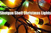 Lumières de Noël de coquille fusil de chasse