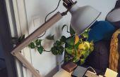Lampe industrielle Bureau en bois