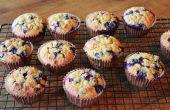 Muffins à l'avoine sans gluten Blueberry gratuit