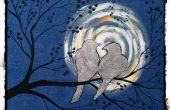 Comment Silver leaf oiseaux sur toile Denim A