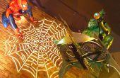 Grandeur nature Spider-Man sur le thème Halloween affichage