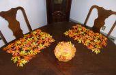 Décorer avec des feuilles de l'automne