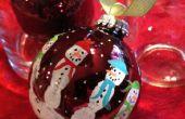 Kids main Print Snowman ampoule Decor cadeau pour Noël