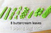 Astuce de tuyauterie DIY feuilles & 8 feuilles de crème au beurre