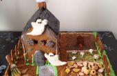 Maison de pain d'épice Halloween (pour pièce maîtresse)