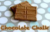 Craie chocolat bricolage
