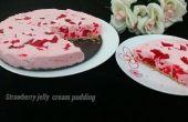 Pouding aux fraises gelée de crème