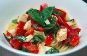 Tomate, Mozzarella et basilic recette pâtes réfrigérées