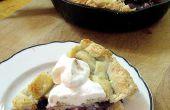 Blueberry et tarte abricot dans une poêle !