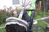 Transplantez un arbre avec un chariot de roue géante deux