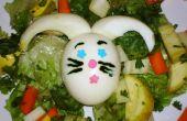 Salade aux oeufs de lapin