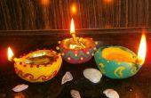 Diya décoratif faits à la main (lampes à huile)