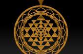 Pendentif d'une Image (Zbrush) imprimable Shri Yantra de modélisation 3D