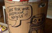 Carton et « scène de crime » bande robot poubelle