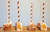 Pumpkin Spice Swirled Marshmallow pop