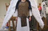 Costume guerrier archange avec câble contrôlé ailes