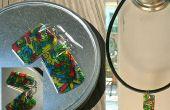 Doodle boucles d'oreilles (bijoux Charms) par plastique recyclage νm;6 (faites votre propre shrinky dinks!)