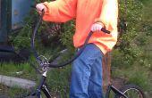 Pousser le Scooter d'un vieux vélo et récupéré les pièces
