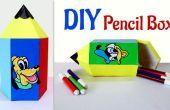 Artisanat d'amusement pour les enfants : Comment faire le crayon en forme de boîte de crayon.