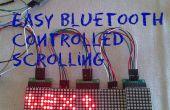 Bluetooth facile sous contrôle texte de défilement