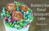 Comment diriger un gâteau bouquet fleur de crème au beurre - avec roses, tulipes perroquet, oeillets & baies d'hypericum