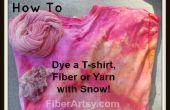 Neige de teinture ! Teindre les Tshirt, des fibres ou des fils avec de la neige