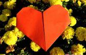 Impression papier Origami coeur