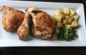 Simple de poulet rôti et pommes de terre