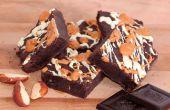 """Gâteau chocolat noir et beurre d'arachide """"brownie"""""""