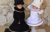Costumes d'échecs roi et la Reine