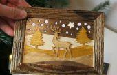 Comment faire des cartes de Noël en bois
