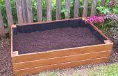 En bois posées lit jardin planteur