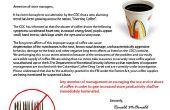 Poisson d'avril - McDonald ' s Fake café avertissement