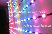 Vends bande flexible de LED, point pixel LED pour la façade du bâtiment, architecture Contact Direct usine : kallen@huasun-tech.com