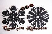 Flocons de Kirigami pour décorer votre fête d'Halloween